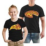 Spaß kostet Partnershirt Vater & Sohn Familien Outfit Pizza