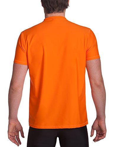 iQ-UV Herren 300 Regular Geschnitten, V-Ausschnitt Schutz T-Shirt Orange