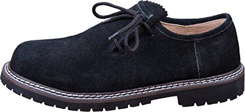 Almwerk Herren Trachtenschuh aus echtem Leder, Schuhgröße:EUR 46;Farbe:Schwarztöne