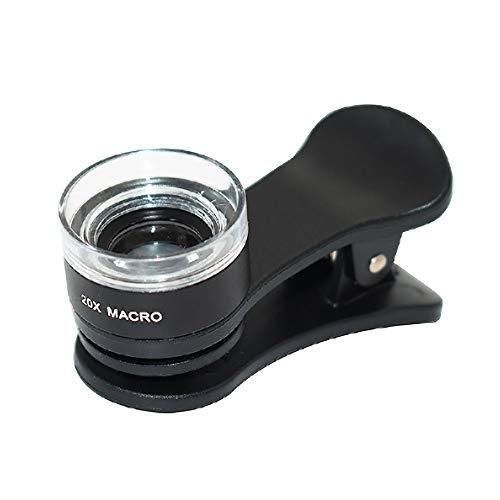 ZXASDC Handy Objektiv Set - 20x Makro Linse - Kamera Set für Android and iOS Smartphone and Tablet Camera für Fußballspiel Konzert Live Vogelbeobachtung Reisen etc