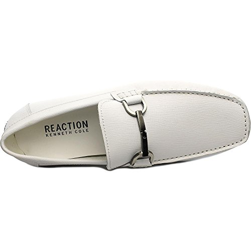 Kenneth Cole Reaction Sound System Hommes Cuir Mocassin white