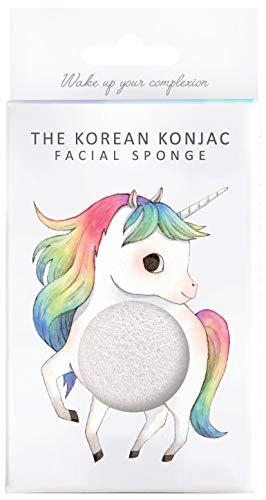 The Konjac Sponge Co éponge de face pour nettoyer et exfoliar, blanc - 1 unité