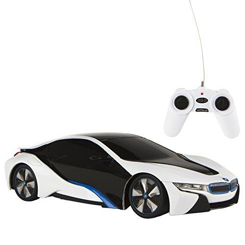RASTAR - Coche teledirigido 1:24, BMW i8 Blanco (ColorBaby 75899)