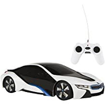 Rastar - BMW i8, coche teledirigido, escala 1:24, color blanco (ColorBaby 75899)
