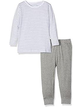 NAME IT Baby-Mädchen Zweiteiliger Schlafanzug Nmfnightset Grey Mel Noos