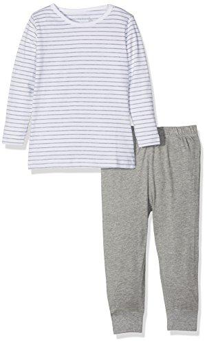 NAME IT Baby-Mädchen Zweiteiliger Schlafanzug NMFNIGHTSET Grey Mel NOOS, Mehrfarbig Melange, 92