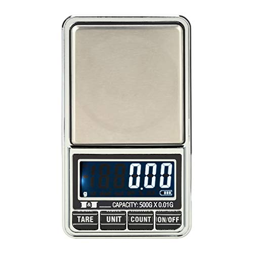 Preisvergleich Produktbild Busirde 500g / 0, 01 g Mini-LCD-Digital Pocket Waage Schmuck Präzisionswaage Elektronische Waage Wiegen Werkzeuge