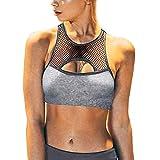 Dtuta Sports Et Loisirs,Running Femme Vetement,Grille Couture Creux Confortable Respirant Sauvage Casual Couleur Unie Yoga Musculation Sport RéUnis Gilet Sexy...