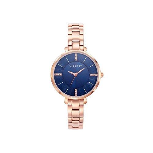a3321d891e46 Viceroy Reloj Analogico para Mujer de Cuarzo con Correa en Acero Inoxidable  471062-37
