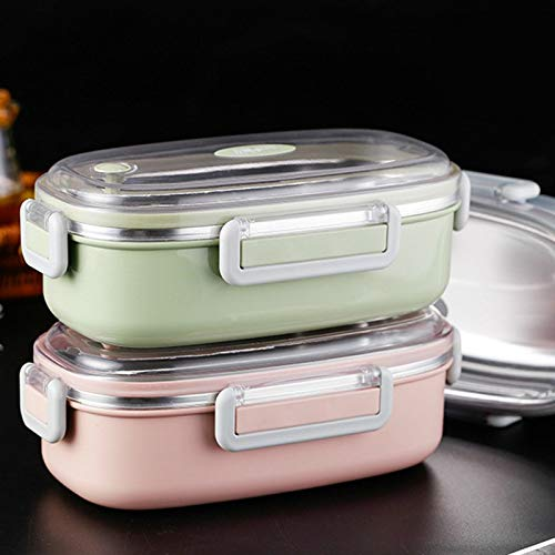 ainless Steel Lunch Box Portable Food Container Leak Proof Japanese Thermos Bento Healthy - For Bulk Bag Blue Korean Expandable Pig Leakproof Adidas Big ()