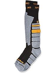Spaio Calcetines Unisex Thermo Thermolite Ski, negro/gris/naranja, 41-43