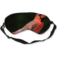 Schlafmaske, bequem, Motiv: Nordkardinal, Columbia, rote Vögel, Tiere, schwarzer Hintergrund, Schlafmaske für... preisvergleich bei billige-tabletten.eu