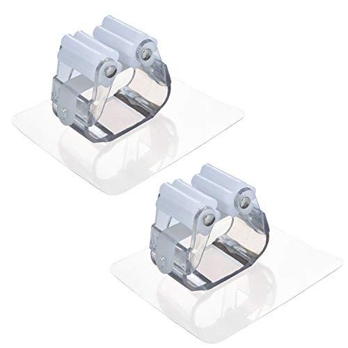 Besen Mop Halter, Zoiibuy 3M Selbstklebend Ohne Bohren Mop Clip Küche Bad Garten Aufbewahrung Gerätehalter - Weiß