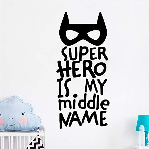 (wandaufkleber k Superheld ist mein Name mein zweiter Vorname für Kinderzimmer Kinder Zimmer Jungen Zimmer)