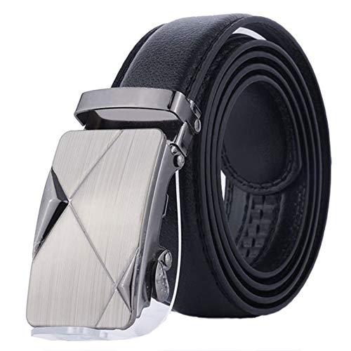 Aofocy Cinturón para hombres Cinturón de cuero PU Cinturón de negocios Cinturón de caballero informal con hebilla automática como regalo para sus amigos y familiares