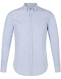 aa7b282e70 SOLS - Camisa de popelín de manga larga para hombre