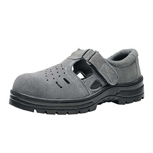Homyl Scarpe Antinfortunistiche Sandalo Acciaio Puntale Protezione Dita Leggera Antiodore Gomma Pelle - EU 43