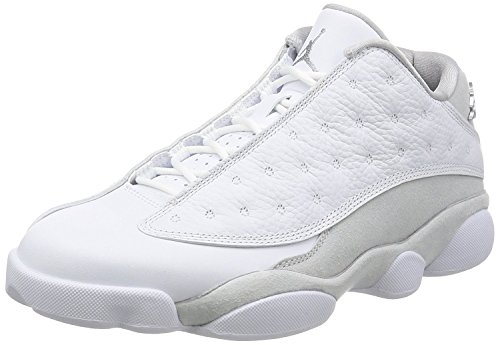 Nike Chaussures Air Jordan 13 Low Pure Money en Cuir Blanc Monochrome 310810-100