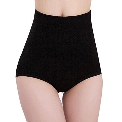 Damen Sexy Body Strumpfhose, LUCKDE Frauen hohe Taille Bauch Kontrolle Shaper Slips Schlankheits Hose Dessous Bekleidung (Schwarz) (Lace Stunde Bh Soft-cup)