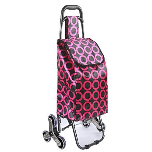 Moolo carrello della spesa pieghevole, negozio di generi alimentari leggero carrello piccolo carrello pieghevole portatile per bagagli g5 (colore : h.)