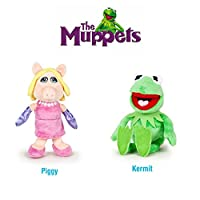 """The Muppets - Pack 2 plush toy Quality super soft - Kermit the frog 8""""/22cm + Miss Piggy 7""""/20cm"""