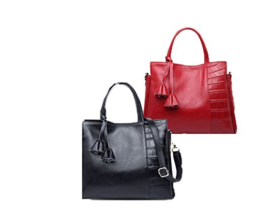 PACK Atmosphere Borse In Pelle Borse A Tracolla Di Spalla Europa E Gli Stati Uniti Ladies Soft Leather,C:SapphireBlue A:WineRed