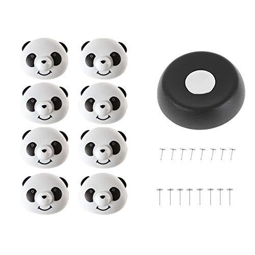 ROKOO Bettdeckenhalter-Set mit Rutschfester Panda-Form, magnetisch, Bettlaken, Anti-Move-Schnalle, Befestigung für Bettdeckenklammern