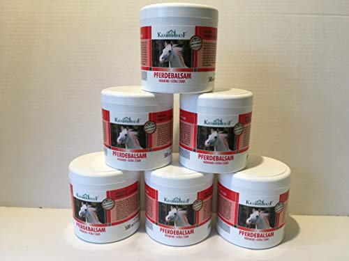 Pferdebalsam Kräuterhof je 500ml Creme wärmend Wärmegel extra stark Salbe (6 Stück) - 768