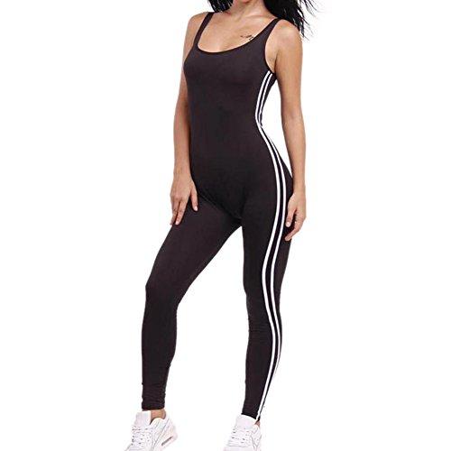 Zurück Unitard (Frauen Yoga Dance Sport Workwear Body ärmellose Overall Leggings (weiß))