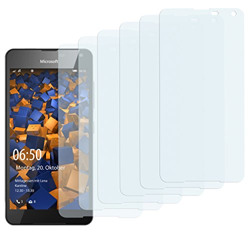 mumbi Schutzfolie kompatibel mit Microsoft Lumia 650 Folie klar, Bildschirmschutzfolie (6x)