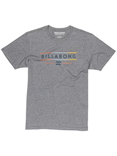 Billabong Herren Dual Unity Short Sleeve T-Shirt Dark Grey Heather