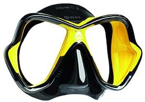 Mares X-Vision LiquidSkin 13 Scuba Diving Mask - Yellow/Black