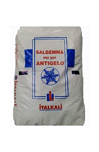 SALE SALGEMMA PER USO ANTIGELO CONTRO IL GELO DI STRADE ED ALTRI SPAZI ALL'APERTO KG. 25 BANCALE 40 PZ