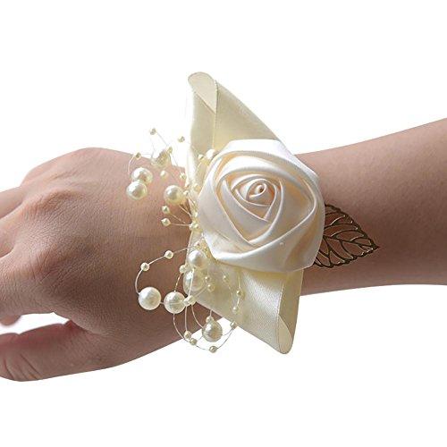 Stageonline bouquet da polso per sposa o damigella, decorazione del partito del fiore di cerimonia nuziale del polso della sposa di promenade