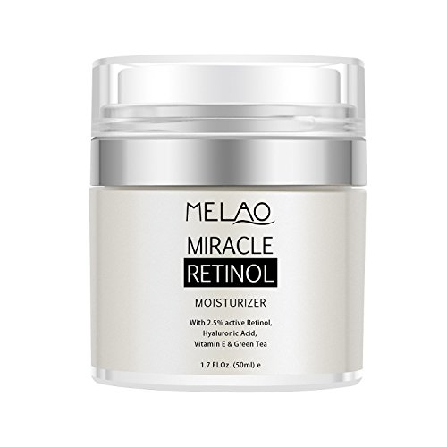 Retinol Moisturizer Cream,Melao Anti-aging Wrinkle Night/Day Cream for Face and Eye with 2.5% Retinol,Hyaluronic,Vitamin E and Jojoba Oil