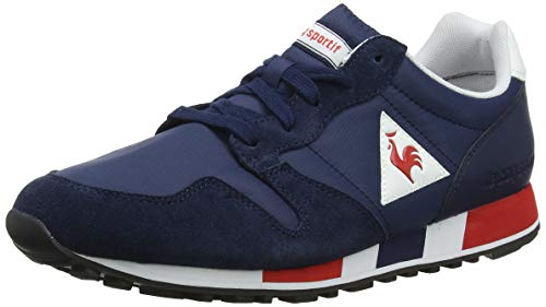 Le Coq Sportif Omega, Sneaker Unisex-Adulto, Blu Dress Blue/Pure Red, 43 EU