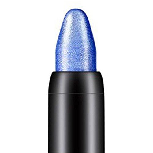 Internet 1PC Crayon fard à paupières de professionnelle de la beauté surligneur (Bleu foncé)