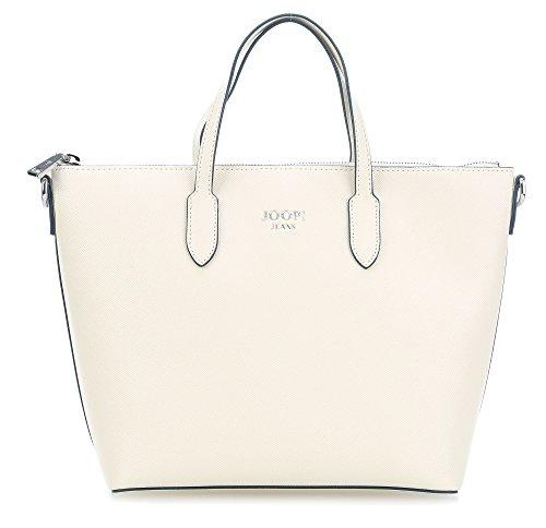 Joop! - Saffiano Jeans Suri Handbag Mhz, Borse a secchiello Donna Bianco (Offwhite)