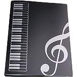 LYTIVAGEN Dossier de Rangement pour Partitions de Musique 40 Pochettes de Chemise de Partitions en Plastique A4 Classeur à Po