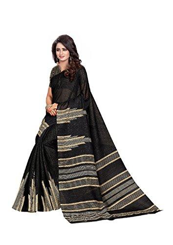 Women Mode Black Color Silk Casual wear Traditional Saree