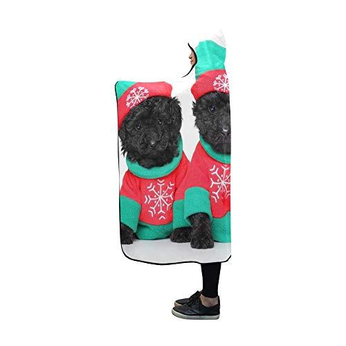 YSJXIM Mit Kapuze Decke Gruppen-Welpen-Weihnachtskostüme, die auf Decke 60x50 Zoll Comfotable mit Kapuze Wurfs-Verpackung aufwerfen