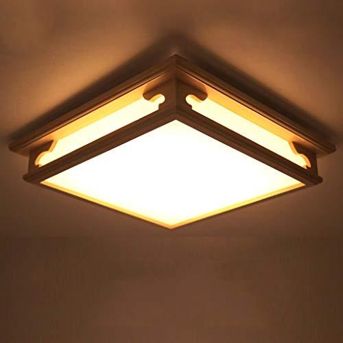 Square Wärmer (Sache Holz- Wohnzimmer Led Deckenleuchte Square Acryl Lampe Massivholz Schlafzimmer Licht Wärmer (Farbe: Weiß))