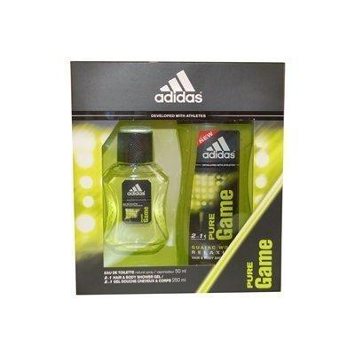 Adidas Pure Game Perfum Eau De Toilette Spray 50 ml Shower Gel & Geschenk-Set für Männer