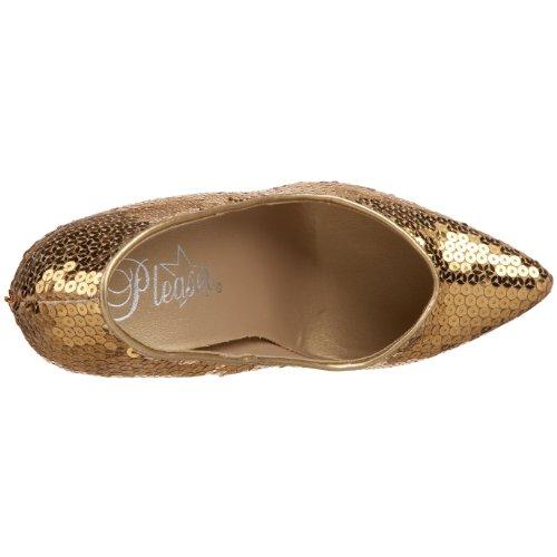 Pleaser Seduce de 420SQ Femme Pumps gold