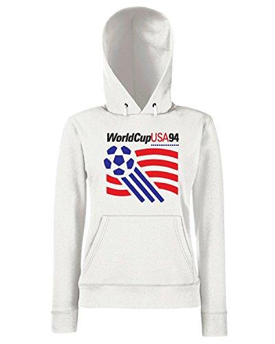 T-Shirtshock - Sweats a capuche Femme TR0144 usa 94 t-shirt Blanc