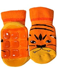 Weri Spezials Baby und Kinder Voll-ABS Socke Tiger Motiv in Orange