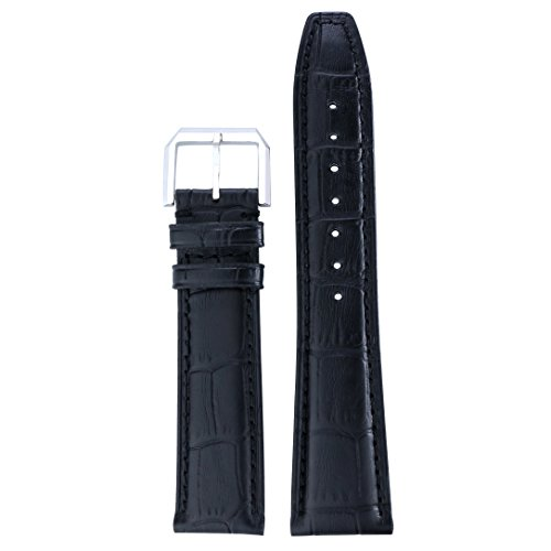 20mm-black-high-end-watch-straps-bands-replacements-padded-grosgrain-italian-leather-for-luxury-bran