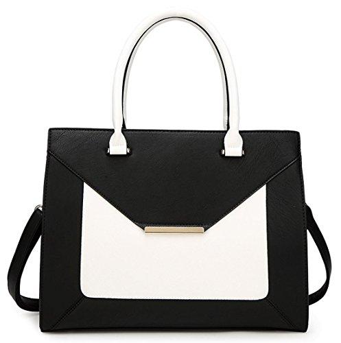 Kukubird Olivia Ecopelle Fibbia Oro Busta Forma Tote Handbag White