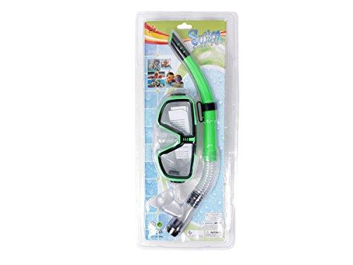 Alsino Schnorchelset Kinder ab 3 Jahren - (9012 grün) Taucherbrille Schnorchel Tauchset Schwimmset Taucherset