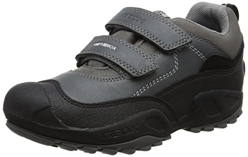 Geox Jungen J New Savage Boy B ABX C Sneaker, Grau (Grey/Lt Grey), 31 EU (Geox Kinder Turnschuhe)